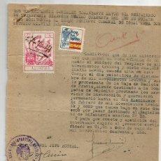 Documentos antigos: GIJÓN.1941. POR LA PATRÍA 10CTS. Lote 286712118