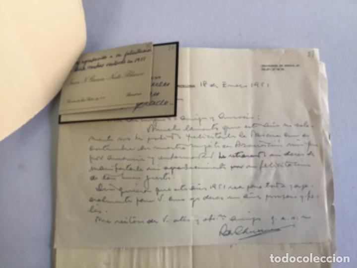 Documentos antiguos: [MANUSCRITO]. [Correspondencia recibida por Joan PRATS I TOMÀS.] - Associació de Bibliòfils de Barce - Foto 3 - 286800788