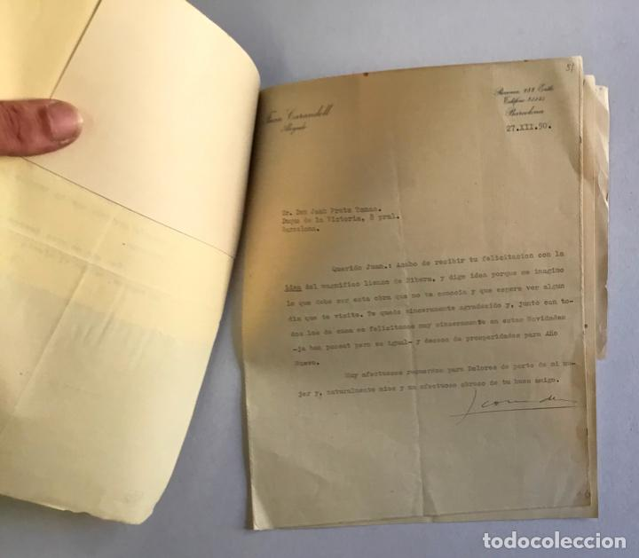 Documentos antiguos: [MANUSCRITO]. [Correspondencia recibida por Joan PRATS I TOMÀS.] - Associació de Bibliòfils de Barce - Foto 5 - 286800788