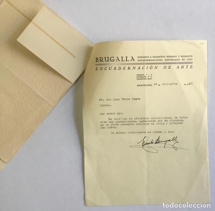 Documentos antiguos: [MANUSCRITO]. [Correspondencia recibida por Joan PRATS I TOMÀS.] - Associació de Bibliòfils de Barce - Foto 7 - 286800788