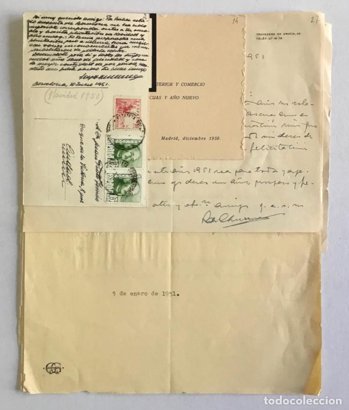[MANUSCRITO]. [CORRESPONDENCIA RECIBIDA POR JOAN PRATS I TOMÀS.] - ASSOCIACIÓ DE BIBLIÒFILS DE BARCE (Coleccionismo - Documentos - Otros documentos)