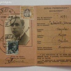 Documents Anciens: TARJETA DE IDENTIDAD POSTAL - ADMINISTRACIÓN DE CORREOS DE ESPAÑA - P63091. Lote 287395693