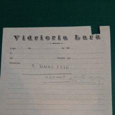 Documentos antiguos: NITA PEDIDO VIDRERIA LARA LUGO 1976. Lote 287761788