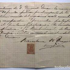 Documentos antiguos: BADALONA 1912 / SOCIEDAD COOPERATIVA - LA BIENHECHORA / BARCELONA. Lote 288028603