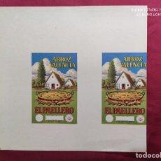 Documentos antiguos: ARROZ VALENCIA. EL PAELLERO. Lote 288410788