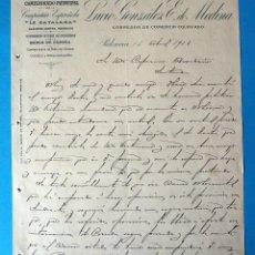 Documents Anciens: ANTIGUO DOCUMENTO. LA CATALANA.. LUCIO GONZÁLEZ. CORREDOR DE COMERCIO. PALENCIA. AÑO 1913. Lote 288483733