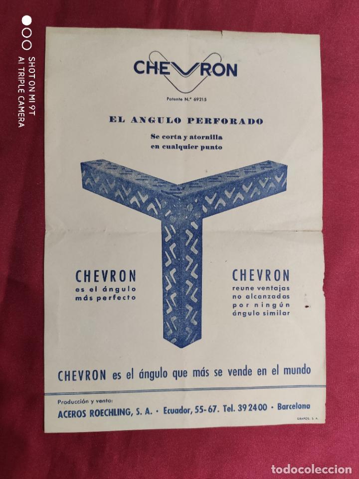 ANTIGUA Y ORIGINAL PUBLICIDAD. CHEVRON. EL ANGULO PERFORADO. (Coleccionismo - Documentos - Otros documentos)