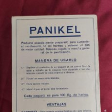 Documentos antiguos: HOJA ORIGINAL PUBLICIDAD. PANIKEL.. Lote 288579913