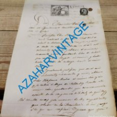 Documentos antiguos: EPILA, ZARAGOZA, 1879, CERTIFICADO ALISTAMIENTO MOZO REEMPLAZO, FIRMA ALCALDE, RARO. Lote 288694513