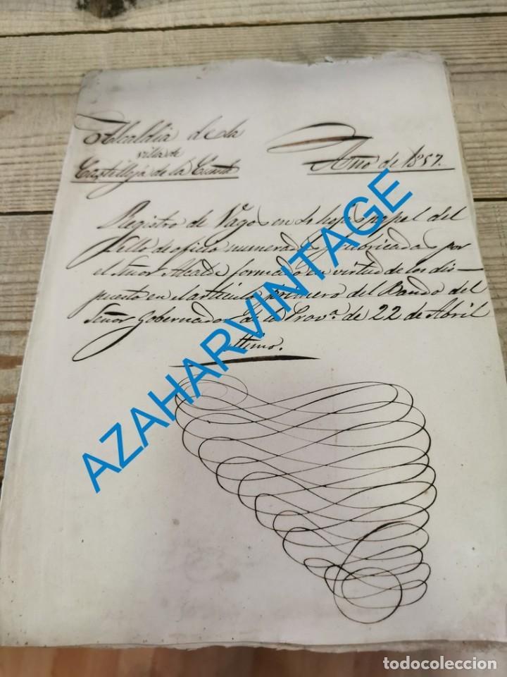 1857, CERTIFICACION NEGATIVA Y REGISTRO MUNICIPAL DE VAGOS, RARO (Coleccionismo - Documentos - Otros documentos)