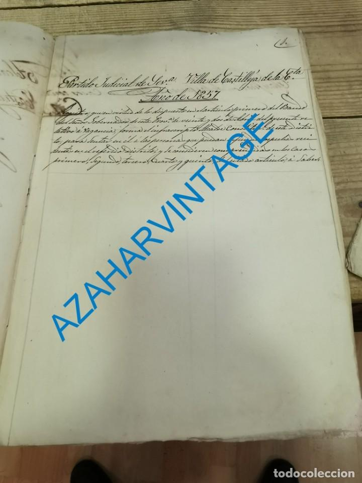 Documentos antiguos: 1857, CERTIFICACION NEGATIVA Y REGISTRO MUNICIPAL DE VAGOS, RARO - Foto 2 - 288988983