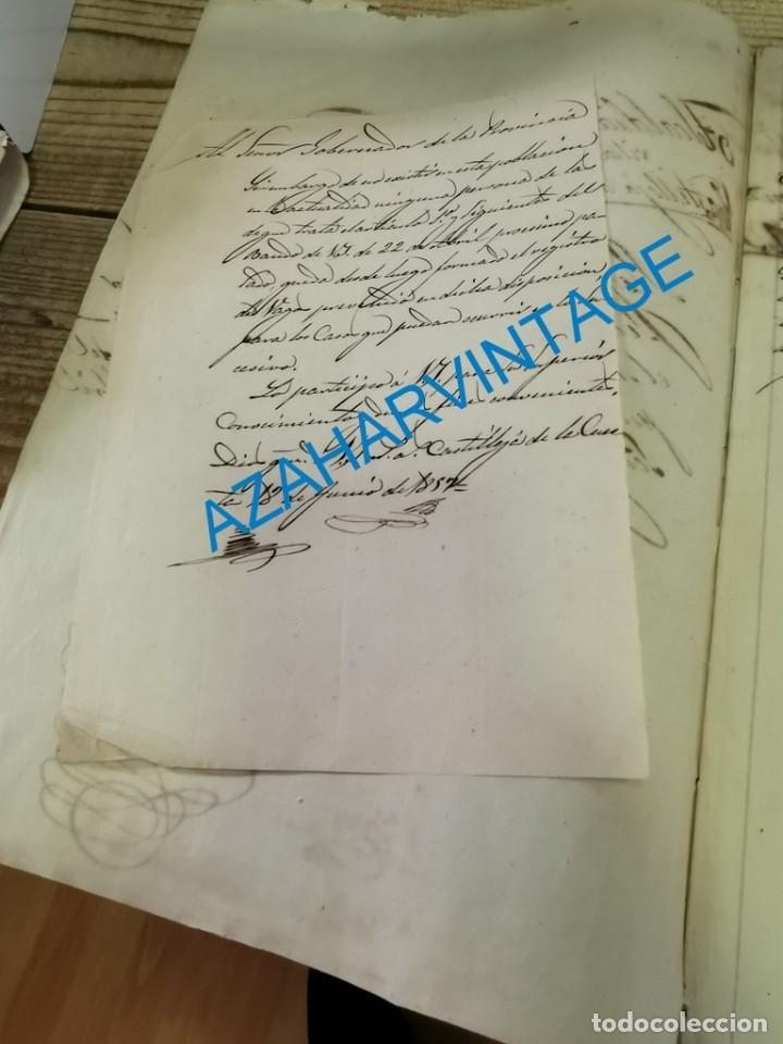 Documentos antiguos: 1857, CERTIFICACION NEGATIVA Y REGISTRO MUNICIPAL DE VAGOS, RARO - Foto 3 - 288988983