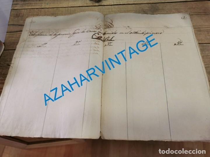 Documentos antiguos: 1857, CERTIFICACION NEGATIVA Y REGISTRO MUNICIPAL DE VAGOS, RARO - Foto 4 - 288988983