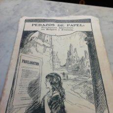 Documentos antiguos: PEDAZOS DE PAPEL, PROCLAMAS ALEMANAS EN BÉLGICA Y FRANCIA. Lote 289448928