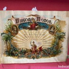 Documentos antiguos: DIPLOMA DE HONOR LOS MÉRITOS AÑOS 50 . VER FOTOS. Lote 290057433
