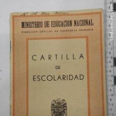 Documentos antiguos: CARTILLA DE ESCOLARIDAD - MURCIA 1959. Lote 290070003