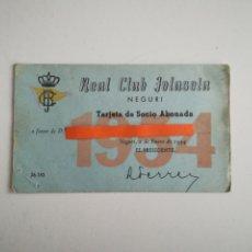 Documentos antiguos: REAL CLUB JOLASETA. TARJETA DE SOCIO. AÑO 1954.. Lote 290076668