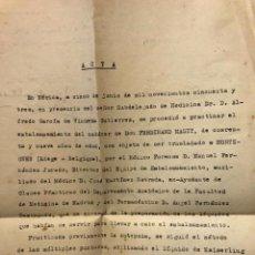 Documentos antiguos: COLECCIÓN CUATRO DOCUMENTOS FORENSES. BADAJOZ EXTREMADURA. 1940-50. MEDICINA. AUTOPSIAS. EMBALSAMAR. Lote 290083628