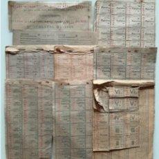Documentos antiguos: CUPONES DE RACIONAMIENTO ALIMENTARIO 670 CUPONES. Lote 290087488