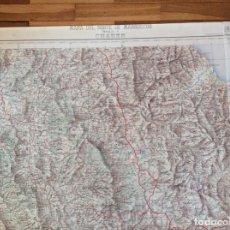 Documentos antiguos: MAPA NORTE DE MARRUECOS CHAUEN. MIDE 80X69 CMS. PAPEL TELA. Lote 291222233