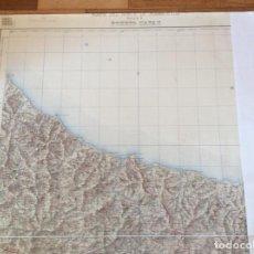 Documentos antiguos: MAPA NORTE MARRUECOS PUERTO CAPAZ. MIDE 80X69 CMS. PAPEL TELA. Lote 291222563
