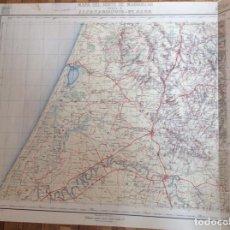 Documentos antiguos: MAPA NORTE MARRUECOS ALCAZARQUIVIR EL GARB. PAPEL TELA. MIDE 80X69 CMS. Lote 291452368