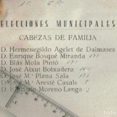 Documentos antiguos: 1946 12 PAPELETAS DE VOTACIÓN PISOS VARIOS ELECCIONES MUNICIPALES CABEZAS DE FAMILIA LÉRIDA (LLEIDA). Lote 292567263