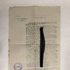 Documentos antiguos: DOCUMENTO DIVISIÓN AZUL - RESERVADO - ESTADO MAYOR CENTRAL EJÉRCITO - FIRMA: RAFAEL BARBUDO DUARTE. Lote 293833703