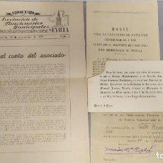 Documentos antiguos: 4 DOCUMENTOS AYUNTAMIENTO DE SEVILLA AÑOS 40/50. Lote 295035063