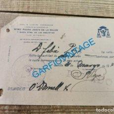 Documentos antigos: SEMANA SANTA SEVILLA, 1940, RECIBO HERMANO HERMANDAD DE LOS GITANOS. Lote 295418328