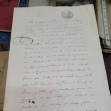 Documentos antiguos: DOCUMENTO MINERIA MINA DON MANUEL LORCA MURCIA JOSE JUST. Lote 295483688