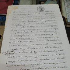 Documentos antiguos: DOCUMENTO MINERIA MINA SAN BARTOLOME CUEVAS ALMERIA JOSE JUST LORCA MURCIA S XIX 1848. Lote 295484063