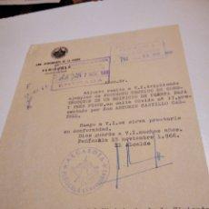 Documentos antigos: DOCUMENTO MINISTERIO DE LA VIVIENDA MEMBRETE Y CUÑO ALCALDÍA DE PEÑISCOLA 1966. Lote 295752433