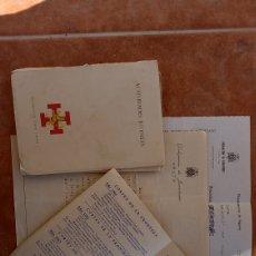 Documentos antiguos: DOCUMENTACIÓN INGRESO OJE CEUTA 1970. Lote 295801273