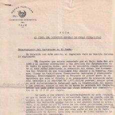 Documentos antiguos: ENCAUZAMIENTO DEL RÍO MANZANARES EL EL PARDO. TARIFAS DE LOS CANALES DE ARANJUEZ. 1960. Lote 295814218