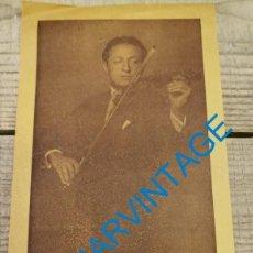 Documentos antiguos: BARCELONA-PALAU DE LA MUSICA CATALANA-CONCIERTO HEIFETZ-PROGRAMA, AÑOS 40. Lote 296574638