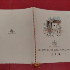 Documentos antiguos: MENÚ INVITACIÓN GOBERNADOR CIVIL Y DIPUTACIÓN DE MADRID 1948 HOTEL FELIPE II CONGRESO INT.DE LA A.I.. Lote 296809368