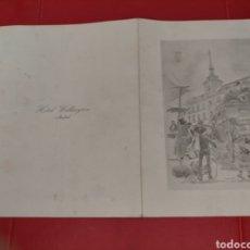 Documentos antiguos: MENÚ HOTEL WELLINGTON 1970. Lote 296810623