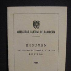 Documentos antiguos: MUTUALIDAD LABORAL DE PANADERIA - AÑO 1955. Lote 296883783