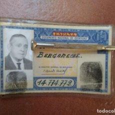Documentos antiguos: ANTIGUO CARNET DE IDENTIDAD AZUL. Lote 297046523