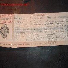 Documentos bancarios: LETRA DE CAMBIO DEL SIGLO XIX ;LIBRADO VALDESPINO,LIBRADOR-J.B CARLES. Lote 557101