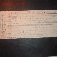 Documentos bancarios: LETRA DE CAMBIO DEL SIGLO XIX ;LIBRADO VALDESPINO,LIBRADOR-J.B CARLES Y CIA. Lote 557116