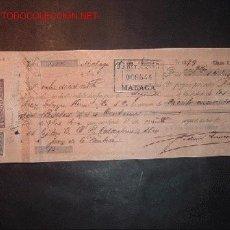 Documentos bancarios: LETRA DEL SIGLO XIX CON SELLO DEL IMPUESTO DE GUERRA DE 5 CENT. Lote 557130