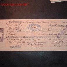 Documentos bancarios: LETRA DE CAMBIO DEL SIGLO XIX CON SELLO DE IMPUESTO DE GUERRA(1898-99). Lote 645350