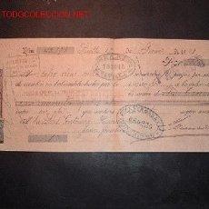Documentos bancarios: LETRA DE CAMBIO DEL SIGLO XIX CON SELLO DE IMPUESTO DE GUERRA(1898-99). Lote 645459