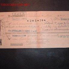 Documentos bancarios: LETRA DE CAMBIO DEL SIGLO XIX CON SELLO DE IMPUESTO DE GUERRA(1898-99). Lote 645478