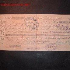 Documentos bancarios: LETRA DE CAMBIO DEL SIGLO XIX CON SELLO DE IMPUESTO DE GUERRA(1898-99). Lote 645486
