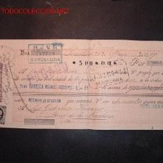 Documentos bancarios: LETRA DE CAMBIO DEL SIGLO XIX CON SELLO DE IMPUESTO DE GUERRA(1898-99). Lote 645492