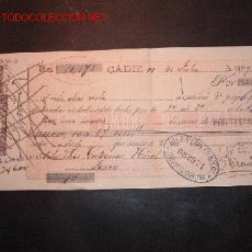 Documentos bancarios: LETRA DE CAMBIO DEL SIGLO XIX CON SELLO DE IMPUESTO DE GUERRA(1898-99). Lote 647372