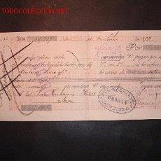 Documentos bancarios: LETRA DE CAMBIO DEL SIGLO XIX CON SELLO DE IMPUESTO DE GUERRA(1898-99). Lote 647377